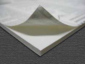 3/16 White 1 Side Self Adhesive Foam Core Boards